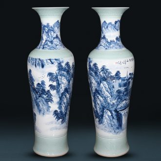 Jingdezhen ceramics hand - made porcelain vase splendid sunvo landing big Chinese living room TV ark place 1 m 4