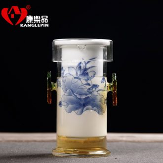 Recreational product kung fu tea tea tea set of blue and white porcelain tea ware ceramic glass teapot tea