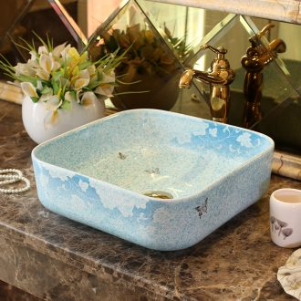 Jingdezhen ceramic stage basin art square European contracted small family toilet lavabo, lavatory basin