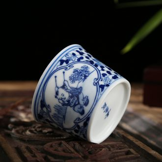 Jingdezhen ceramic masters cup hand-painted kung fu tea cups of a single individual cup sample tea cup single glass bowl