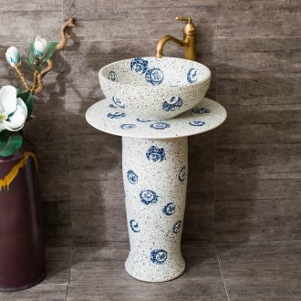 Ceramic pillar lavabo one-piece contracted balcony column column type lavatory floor toilet stage basin
