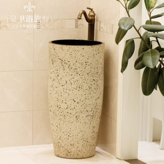 Jingdezhen ceramic art basin pillar basin floor lavabo lavatory basin column basin suit