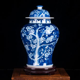 Jingdezhen ceramics fashion antique hand - made ice general mei pot vase classical modern home furnishing articles sitting room