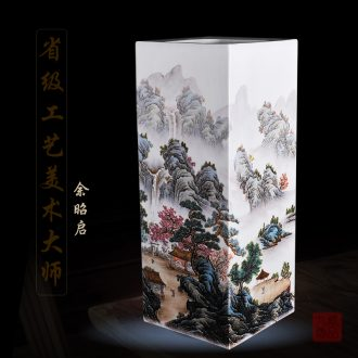 Jingdezhen ceramics Yu Zhao rev hand - made enamel inlay vase nymphs of living household handicraft furnishing articles