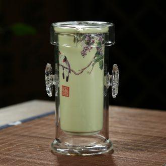 Friend is ceramic glass tea mercifully tea tea set ceramic heat resistant ears red glass cup teapot tea