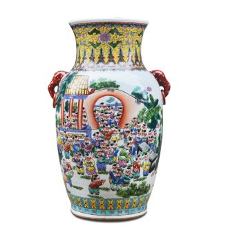 Jingdezhen ceramics hand-painted ears the ancient philosophers figure the lad of large vase furnishing articles of contemporary sitting room opening gifts