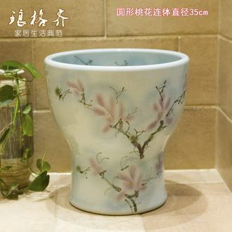 Small balcony wash mop pool ceramic mop pool mop pool floor toilet basin household mop pool