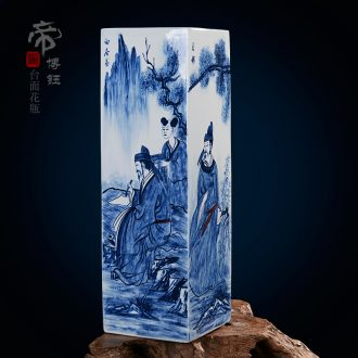 Jingdezhen ceramic hand-drawn characters ceramic vase fashionable classical masterpieces by famous writers home furnishing articles sitting room adornment