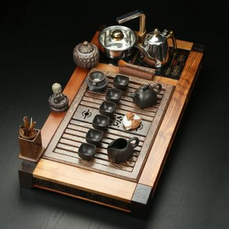 Friend is induction cooker tea tray tea set ebony spend pear wenge four unity tea set your up ceramic kunfu tea