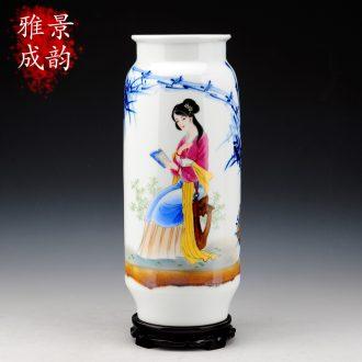 Jingdezhen ceramic hand - made vase landed contracted vases, ceramic flower arrangement I sitting room decorate household