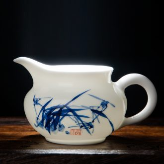 Jingdezhen ceramic thin foetus hand-painted porcelain tea set points fair mug of tea put manual kung fu tea tea sea side