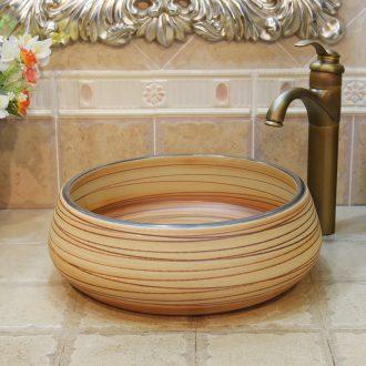 Jingdezhen ceramic lavatory basin basin art on the sink basin birdbath admiralty thread black border