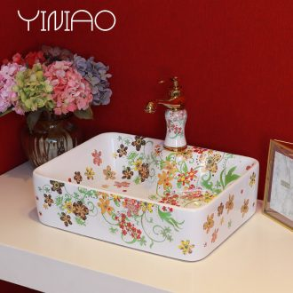 Million birds basin art ceramic lavabo stage lavatory basin rural wind wash basin bathroom basin