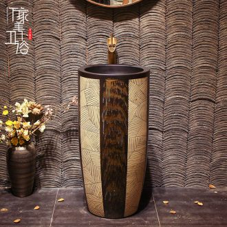 Lavabo ceramic column toilet bowl washing pool balcony sink lavatory toilet pillar landing