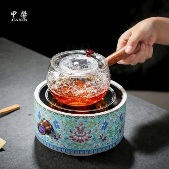 JiaXin more heat resistant glass side pot teapot ceramic electric TaoLu boiled tea, electric kettle flower pot