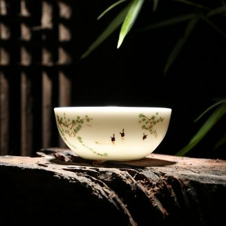 Jingdezhen ceramic tea cup hand-painted under the glaze color sample tea cup cup personal cup bowl cups a single master