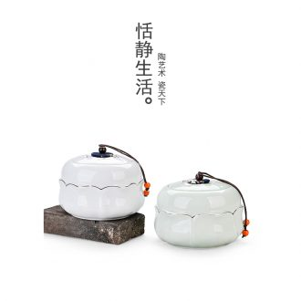 Quiet life see colour caddy fixings celadon ceramic seal storage tank ceramic large - sized half jins of puer tea pot
