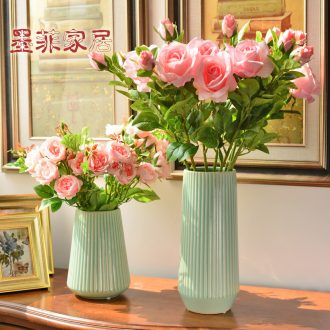 Murphy, contracted and I ceramic vase decoration place to live in the living room table simulation dry flower art flower arranging