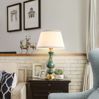 Contracted and contemporary American ceramic decoration lamp european-style full copper sitting room hall example room study bedroom berth lamp
