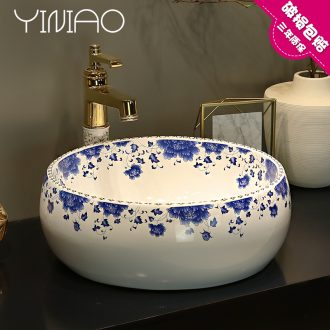 Jingdezhen stage basin of restoring ancient ways round home the sink basin bathroom ceramic art basin lavatory basin