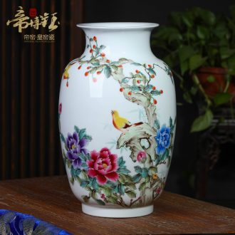 Master of jingdezhen ceramics hand-painted pastel sound spring figure wax gourd vases, modern household adornment handicraft furnishing articles
