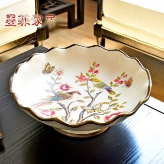 Murphy American country with ceramic big compote European sitting room tea table table candy dishes home decoration furnishing articles