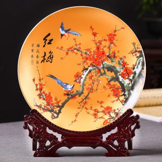 Hang dish of jingdezhen ceramics decoration plate by patterns of Chinese wine TV ark, rich ancient frame furnishing articles