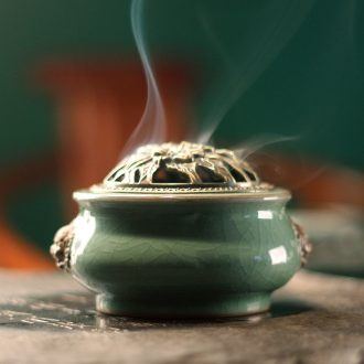 Small incense buner ceramic bedroom aromatherapy furnace incense coil archaize tower bedroom sweet fume censer aloes ta incense inserted