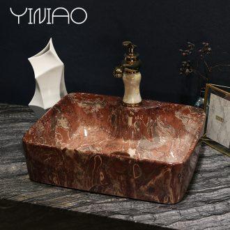 Ou on the sink rectangular lavatory toilet basin art ceramic marble table wash gargle