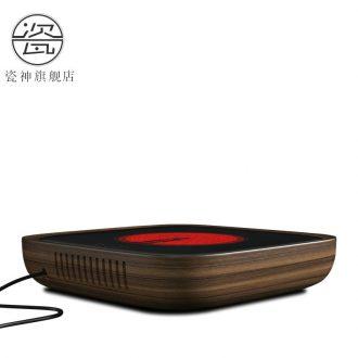 Contracted household electrical porcelain god TaoLu tea stove silver pot of ceramic glass plates iron pot mini pot of boiled tea stove