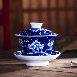 Jingdezhen ceramic hand-painted mei tureen large ice