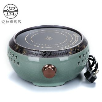 God porcelain ceramic household electric ceramic tea teapot tea stove cooking tea stove glass plates iron pot pot of tea