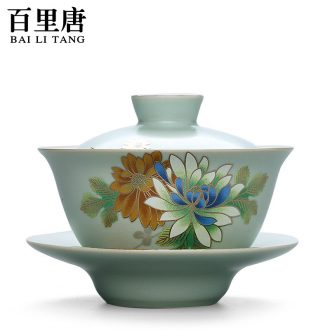 Thyme Tang Dehua your up on ceramic flower tea bowl large kung fu tea set your porcelain cups three tureen Japanese only