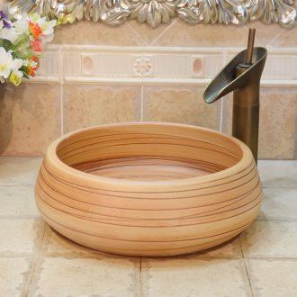 Jingdezhen ceramic lavatory basin basin art on the sink basin birdbath Jin Zhonghuang bottom line