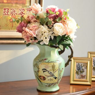 Murphy European farm ceramic large vase restoring ancient ways American country flower arranging living room home decoration furnishing articles