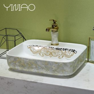 European marble platform basin of jingdezhen ceramic lavatory toilet stage basin art basin on the sink
