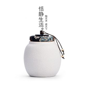 Quiet life black pottery tea pot seal pot of pu 'er tea green tea POTS white porcelain ceramic storage tanks