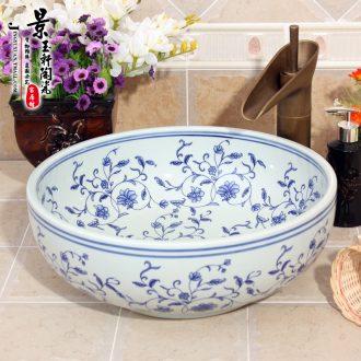 JingYuXuan blue and white ceramic sanitary ware ceramic art basin shengshi basin sinks hand basin