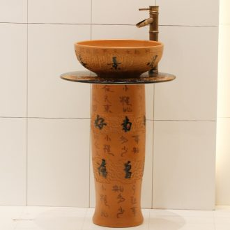 Jingdezhen ceramic balcony one - piece toilet ceramic basin stage basin lavatory basin that wash a face to wash your hands to restore ancient ways