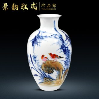 The Master of jingdezhen ceramics hand - made modern blue and white porcelain vase household act the role ofing is tasted handicraft furnishing articles