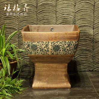 Indoor and is suing ceramic art basin mop mop pool ChiFangYuan one - piece mop pool 42 cm diameter courtyard in newest of autumn