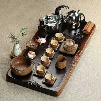 Friend is real wood the whole piece of ebony brother your kiln kiln ceramic tea sets tea tray kung fu tea tea table