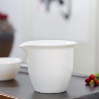 Thyme tang white porcelain kung fu tea set dehua ceramic fair keller Japanese tea tea with parts points