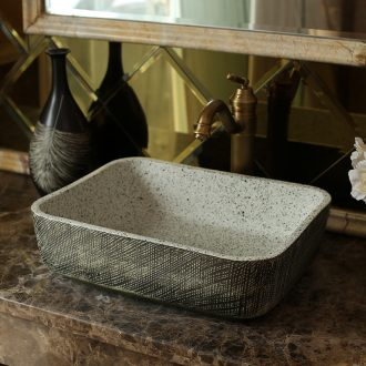 Jingdezhen ceramic art stage basin of archaize hotel for wash basin carved rectangular toilet lavabo