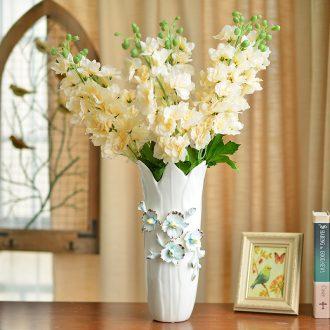 Murphy 's European modern creative hand knead ceramic vase sitting room adornment is placed simulation flower art ceramic vase
