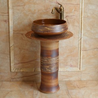 Jingdezhen ceramic basin art columns carved toilet lavatory sink European I and contracted