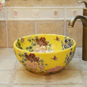 Jingdezhen ceramic wash basin stage basin, art basin sink more than 30 cm in size small