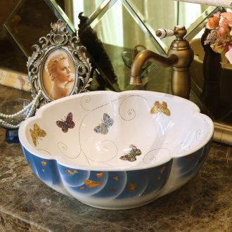 Jingdezhen ceramic basin sinks art on the new stage basin torx outside of Tehran, a butterfly