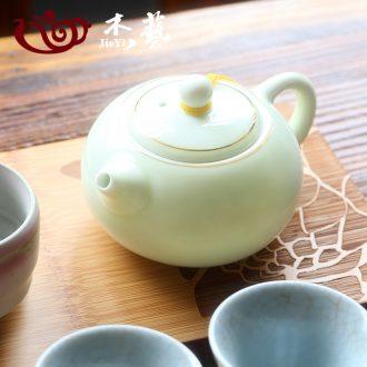 Celadon large single pot teapot ceramic teapot kung fu tea tea set household longquan Celadon, xi shi pot