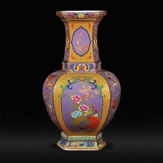 Jingdezhen ceramic powder enamel antique vase kiln fashion furnishing articles housewarming flower arranging landing crafts sitting room